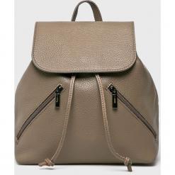 Answear - Plecak skórzany. Szare plecaki damskie ANSWEAR, ze skóry. W wyprzedaży za 229,90 zł.