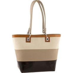 Torebki klasyczne damskie: Skórzana torebka w kolorze beżowo-brązowym – 40 x 30 x 15 cm