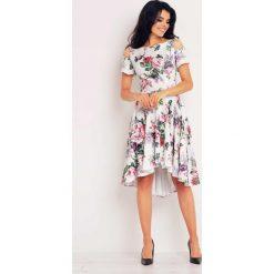 Sukienki: Asymetryczna Sukienka z Wyciętymi Ramionami