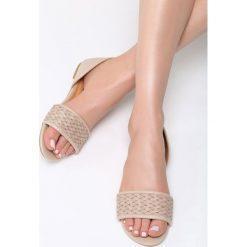 Beżowe Sandały Don't Be Shy. Brązowe sandały damskie Born2be, z materiału, na obcasie. Za 59,99 zł.