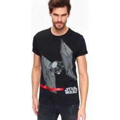 T-SHIRT STAR WARS. Czarne t-shirty męskie Top Secret, na lato, m, z motywem z bajki, z bawełny. Za 69,99 zł.