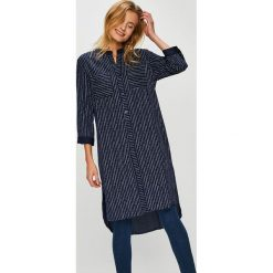 Answear - Koszula. Niebieskie koszule damskie marki ARTENGO, z elastanu, ze stójką. W wyprzedaży za 99,90 zł.