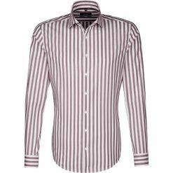 Koszule męskie na spinki: Koszula – Tailored – w kolorze bordowo-białym