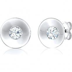 Srebrne kolczyki-wkrętki z kryształkami Swarovski. Szare kolczyki damskie Julie & Grace, z kryształem, srebrne. W wyprzedaży za 68,95 zł.
