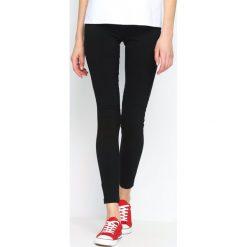Spodnie damskie: Czarne Legginsy Casual Skill