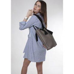 Torba gray Ribbon. Szare torebki klasyczne damskie Pakamera, z bawełny. Za 135,00 zł.