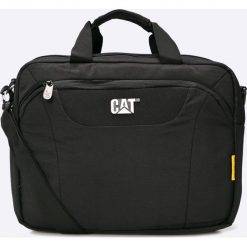 Caterpillar - Torba Mess. Czarne torby na laptopa marki Caterpillar, w paski, z materiału. W wyprzedaży za 199,90 zł.
