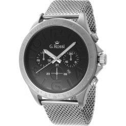 Zegarki męskie: Zegarek Gino Rossi męski Konder srebrny (11520D-1C1)