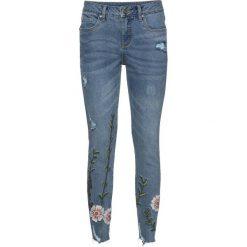 """Dżinsy z haftem bonprix niebieski """"bleached"""". Niebieskie jeansy damskie marki House, z jeansu. Za 159,99 zł."""