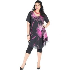 Odzież damska: Sukienka w kolorze czarno-różowym