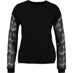 Swetry klasyczne damskie: Cortefiel CREW NECK JUMPER WITH SLEEVES Sweter black