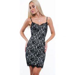 Sukienki: Sukienka na ramiączkach w bieliźnianym stylu czarna ZZ283