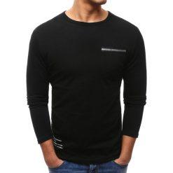 T-shirty męskie z nadrukiem: Longsleeve męski z nadrukiem czarny (lx0458)