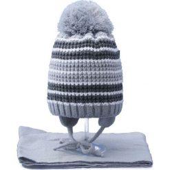 Czapka dziecięca z szalikiem CZ+S 020C szara r. 46-48. Szare czapeczki niemowlęce Proman. Za 45,25 zł.