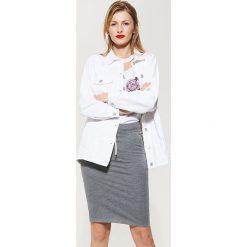 Spódniczki ołówkowe: Elastyczna spódnica o ołówkowym kroju – Jasny szar