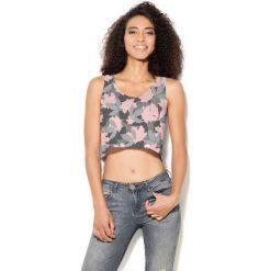 Colour Pleasure Koszulka damska CP-035 257 szaro-różowa r. XXXL-XXXXL. Bluzki asymetryczne Colour pleasure. Za 64,14 zł.