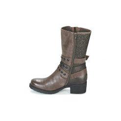 Kozaki Mam'Zelle  DISCO. Brązowe buty zimowe damskie Mam'Zelle. Za 631,20 zł.