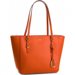 Torebka LAUREN RALPH LAUREN - Bennington 431687508010 Orange. Brązowe torebki klasyczne damskie Lauren Ralph Lauren, ze skóry, duże. Za 999,00 zł.
