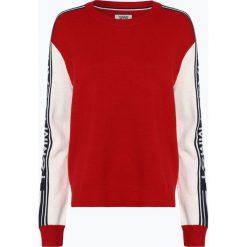 Tommy Jeans - Sweter damski, czerwony. Czerwone swetry klasyczne damskie Tommy Jeans, m, z jeansu, z kontrastowym kołnierzykiem. Za 539,95 zł.