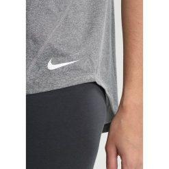 Nike Performance DRY TANK ELASTIKA Koszulka sportowa carbon heather/white. Szare topy sportowe damskie Nike Performance, xs, z materiału. Za 129,00 zł.