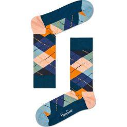 Happy Socks - Skarpetki Argyle. Szare skarpetki damskie Happy Socks, z bawełny. Za 39,90 zł.