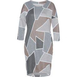 Sukienki: Sukienka bonprix jasnobrązowo-szary wzorzysty