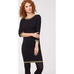 Tuniki damskie eleganckie: Tunika z połyskującą lamówką