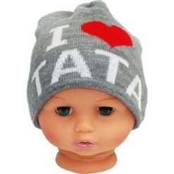 Czapka niemowlęca z napisem tata CZ 160A. Brązowe czapeczki niemowlęce Proman, z napisami. Za 30,75 zł.