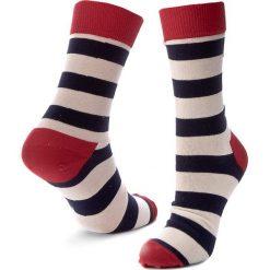 Skarpety Wysokie Unisex HAPPY SOCKS - SA01-045 Kolorowy. Białe skarpetki męskie marki Happy Socks, w kolorowe wzory, z bawełny. Za 34,90 zł.