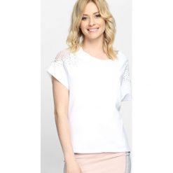 Bluzki asymetryczne: Biały T-shirt Baby You're Mine