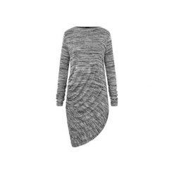 Sukienki: sukienka drapowana szary melanż