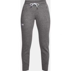 Rurki damskie: Under Armour Spodnie Slim Leg Rib Cuff Jogger szare r. L (1320607-019)