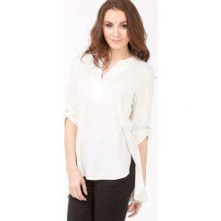 Bluzki asymetryczne: Lniana bluzka oversize