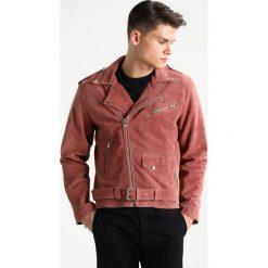 12 Midnight CLASSIC BIKER Kurtka skórzana pink. Czerwone kurtki męskie skórzane marki 12 Midnight, l. W wyprzedaży za 377,55 zł.