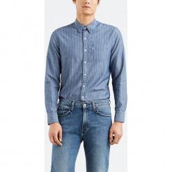 """Koszula """"Sunset"""" w kolorze niebieskim. Niebieskie koszule męskie na spinki Levi's®, m, w paski, z bawełny, z klasycznym kołnierzykiem. W wyprzedaży za 152,95 zł."""