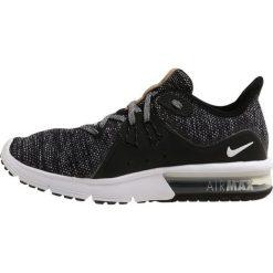 Nike Performance AIR MAX SEQUENT 3 Obuwie do biegania treningowe black/white/dark grey. Czarne buty do biegania męskie Nike Performance, z materiału. Za 399,00 zł.