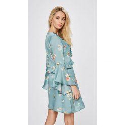 Answear - Sukienka Wild Nature. Szare sukienki mini marki ANSWEAR, na co dzień, m, z poliesteru, casualowe, rozkloszowane. W wyprzedaży za 119,90 zł.