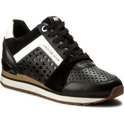 Sneakersy MICHAEL MICHAEL KORS - Billie Trainer 43R7BIFS1L Black. Czarne sneakersy damskie marki MICHAEL Michael Kors, z gumy, przed kolano, na wysokim obcasie. W wyprzedaży za 609,00 zł.