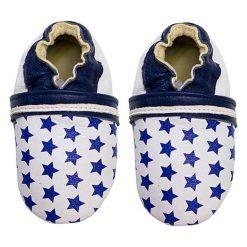 """Buciki niemowlęce chłopięce: Skórzane buty niemowlęce """"Star Pattern"""" w kolorze granatowym"""