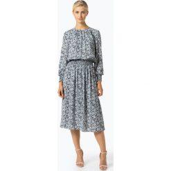Marie Lund - Sukienka damska – Coordinates, niebieski. Niebieskie sukienki z falbanami Marie Lund, midi. Za 499,95 zł.
