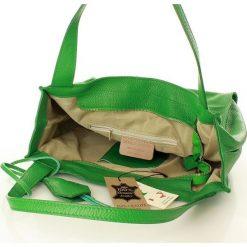 Torebki klasyczne damskie: MARGOT Modna skórzana torba shopperka zieleń