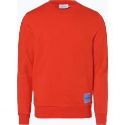 Calvin Klein - Męska bluza nierozpinana, pomarańczowy. Brązowe bluzy męskie Calvin Klein, m, z aplikacjami, z bawełny. Za 379,95 zł.