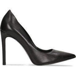 Czółenka MIYA. Czarne buty ślubne damskie Gino Rossi, ze skóry, na wysokim obcasie, na szpilce. Za 269,94 zł.