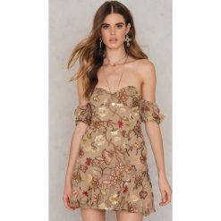Sukienki: For Love & Lemons Sukienka Botanic Strapless – Brown,Multicolor