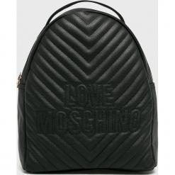 Love Moschino - Plecak. Czarne plecaki damskie marki Love Moschino, z materiału. Za 949,90 zł.