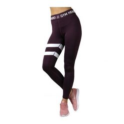 GymHero Spodnie damskie Leggins Burgund bordowe r. XS. Spodnie dresowe damskie Gymhero, xs. Za 150,20 zł.
