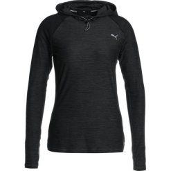 Puma RUN HOODED Koszulka sportowa dark gray heather. Czarne topy sportowe damskie marki Puma, xl, z elastanu. W wyprzedaży za 209,30 zł.