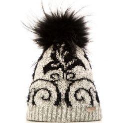 85-HF-002-8 Czapka damska. Szare czapki damskie Wittchen, na zimę, z dzianiny. Za 79,00 zł.