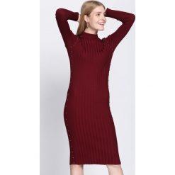 Bordowa Sukienka Young Night. Czerwone sukienki dzianinowe Born2be, na jesień, l. Za 79,99 zł.