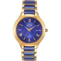 """Zegarki męskie: Zegarek kwarcowy """"Samos"""" w kolorze niebiesko-złotym"""